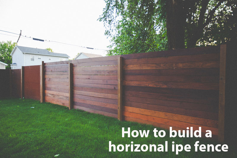 horizontal wood fence diy how to build a horizonal ipe fence